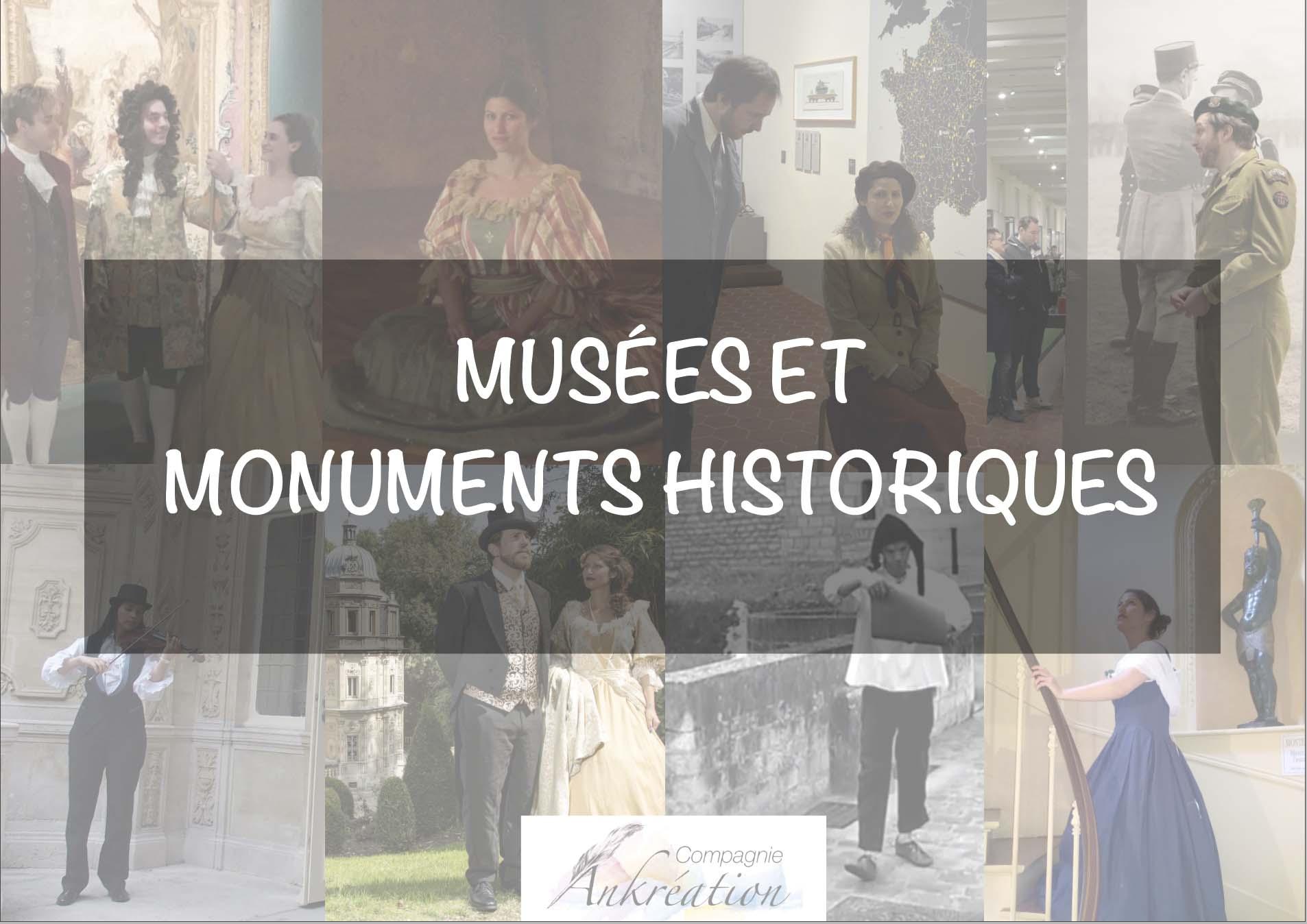 Visites théâtralisées dossier de presse musées et monuments