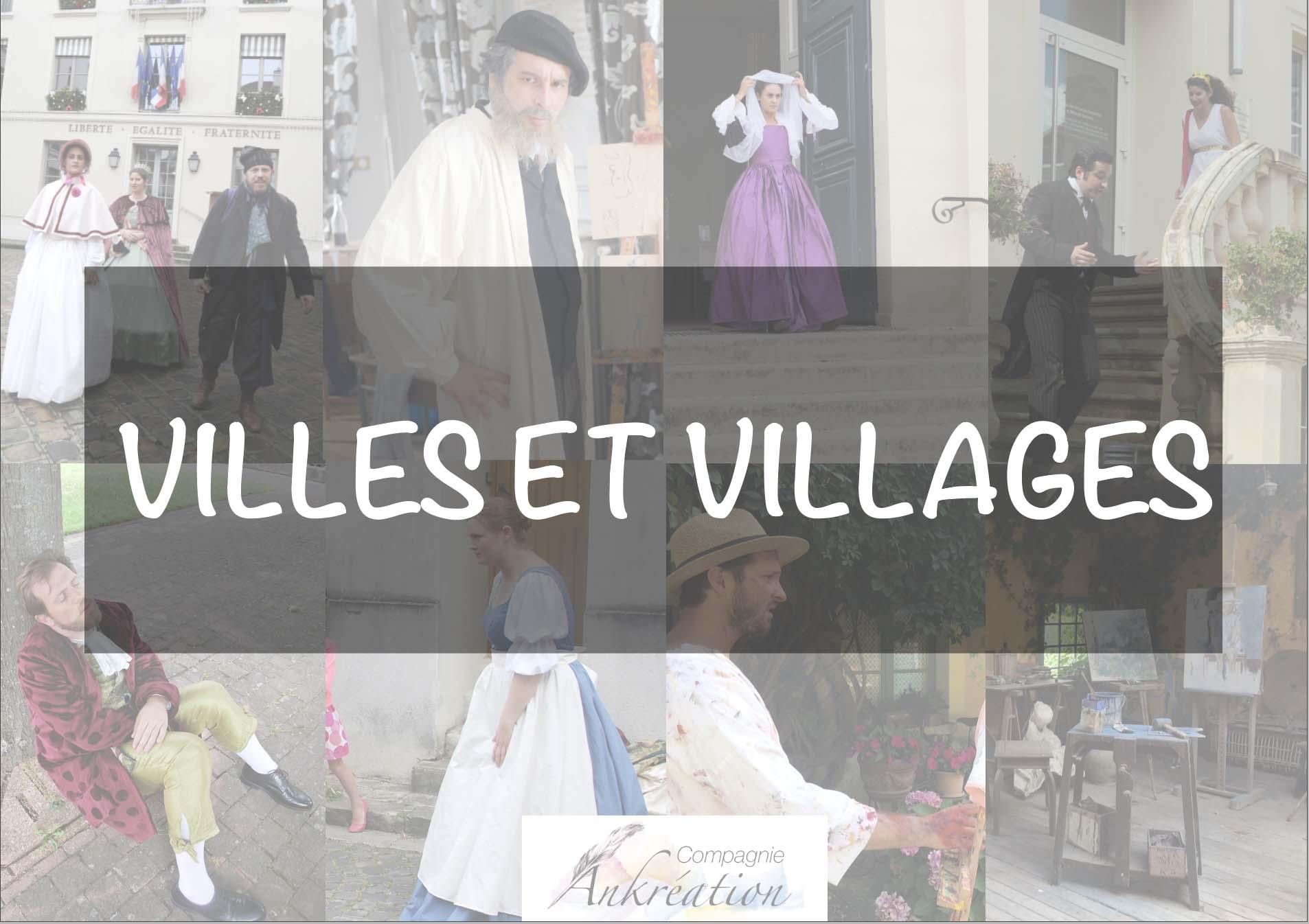 Dossier de Presse visite théâtralisée villes et villages compagnie ankreation